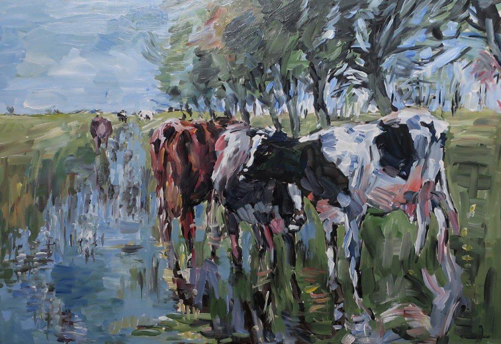 Gerard van Loon - Koeien schilderij